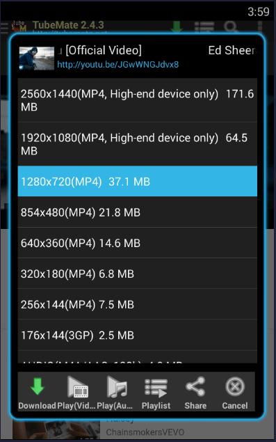 tubemate wont download